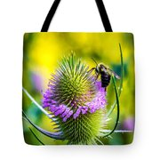 Teasel And Bee Tote Bag