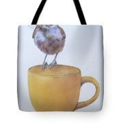 Teatime Titmouse Tote Bag