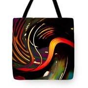 Techno  Neon Stripes Tote Bag