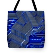 Technology Abstract Tote Bag