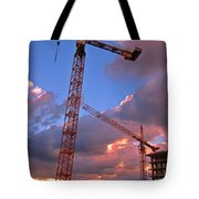 Technology Contrasts With Nature Tote Bag