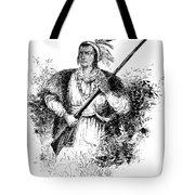 Tecumseh, Shawnee Indian Leader Tote Bag