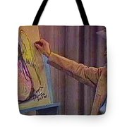 Ted Degrazia Drawing An Angel On Camera Kvoa Tv Screen Capture Christmas 1967 Tote Bag