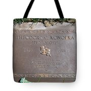Ted Knight Grave Tote Bag