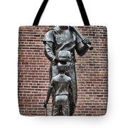 Ted Williams Statue - Boston Tote Bag by Joann Vitali
