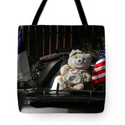 Teddy Bear Ridin' On Tote Bag by Christine Till