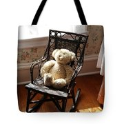 Teddy In Old Fashioned Rocker Tote Bag
