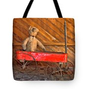 Teddy Takes A Ride Tote Bag