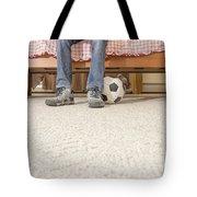 Teen Boy In Bedroom Tote Bag