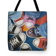 Teens In Converse Tennies Tote Bag