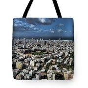Tel Aviv Center Tote Bag by Ron Shoshani