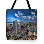 Tel Aviv Center Skyline Tote Bag