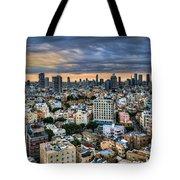 Tel Aviv City Skyline  Tote Bag