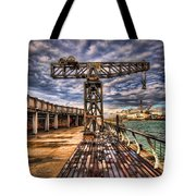 Tel Aviv Port At Winter Time Tote Bag