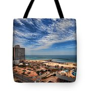 Tel Aviv Summer Time Tote Bag by Ron Shoshani