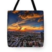 Tel Aviv Sunset Time Tote Bag