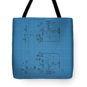 Telegraph Blueprint Patent Tote Bag