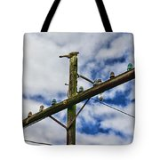 Telegraph Pole - Yesterdays Technology Tote Bag