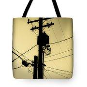 Telephone Pole 2 Tote Bag