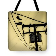Telephone Pole And Sneakers 1 Tote Bag