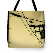 Telephone Pole And Sneakers 9 Tote Bag