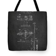 Telescope Telemeter Patent From 1916 - Charcoal Tote Bag