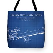 Telescope Zoom Lens Patent From 1999 - Blueprint Tote Bag
