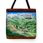 Telluride Ski Map Detail  Tote Bag