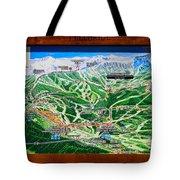 Telluride Ski Map Detail  Tote Bag