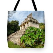 Temple And Foliage Tote Bag