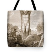 Temple At Agrigentum, Sicily Tote Bag by Charles Robert Cockerell