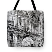 Temple Courtyard Tote Bag