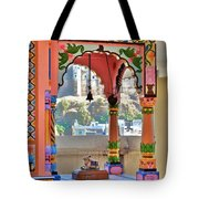 Colorful Temple Entrance - Omkareshwar India Tote Bag