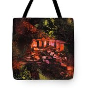 Temple In The Woods Tote Bag