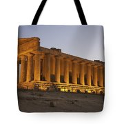 Temple Of Concordia In The Valley Of Tote Bag
