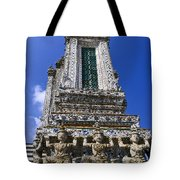 Temple Of Dawn Tower Tote Bag