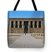 Temple Of Hathor Near Dendera-egypt Tote Bag by Ruth Hager