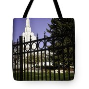 Temple Of Idaho Falls Tote Bag