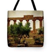 Temple Of Juno Lacinia In Agrigento Tote Bag