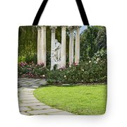 Temple Of Love Statue At The Rose Garden Of The Huntington. Tote Bag