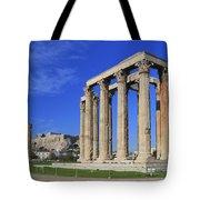 Temple Of Olympian Zeus Athens Greece Tote Bag