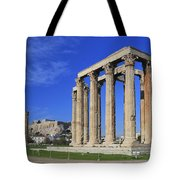 Temple Of Olympian Zeus Athens Greece Tote Bag