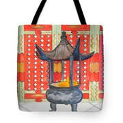 Temple Offerings Tote Bag