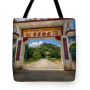 Temple On The Hill Tote Bag