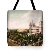 Temple Square Salt Lake City 1899 Tote Bag