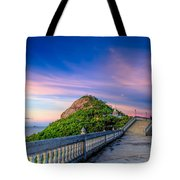 Temple Sunset Tote Bag