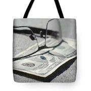 Ten Dollar And Eyeglasses Tote Bag