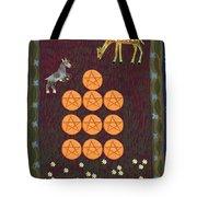 Ten Of Pentacles Tote Bag