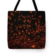 Ten Thousand Lantern Launch Tote Bag