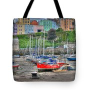 Tenby Harbour In Summer 4 Tote Bag